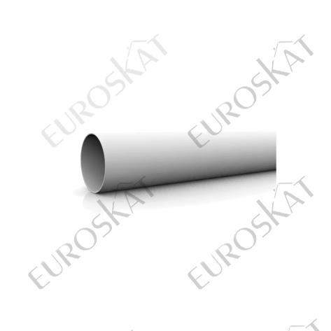 водосточная труба Ø 90 мм 1 м.п. ПВХ