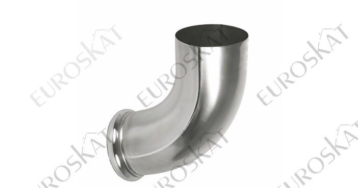 Отвод трубы декорированный Aquasystem Цинк Титан Ø150