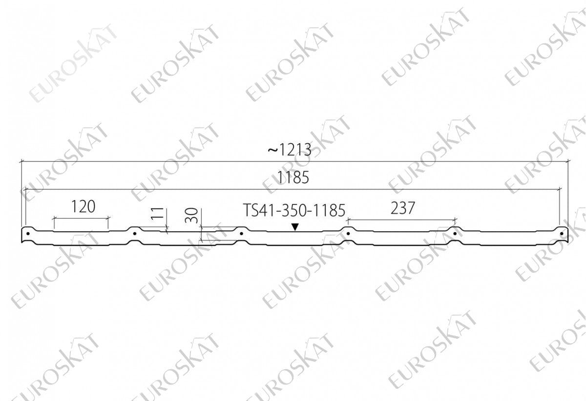Металлочерепица RUUKKI. Профиль Frigge™