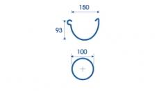 Водосточная система Aquasystem Медь 150*100